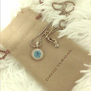 David Yurman Cerise necklace-blue topaz & diamonds